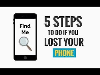 Steps to take if I lose my phone