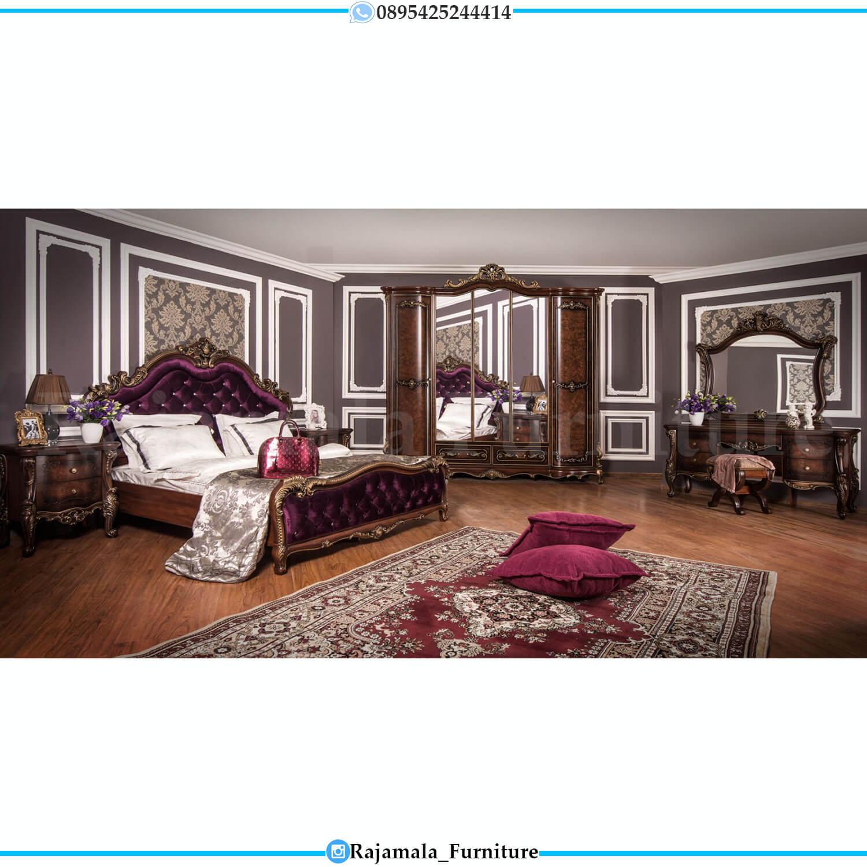Kamar Set Mewah Jati Natural Kombinasi Luxury Classic Design RM-0233