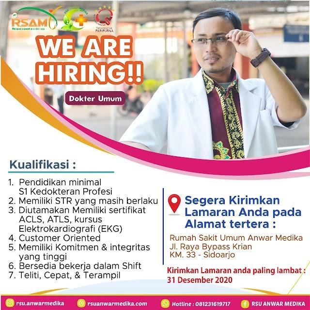 Loker Dokter RSAM Rumah Sakit Anwar Medika Sidoarjo