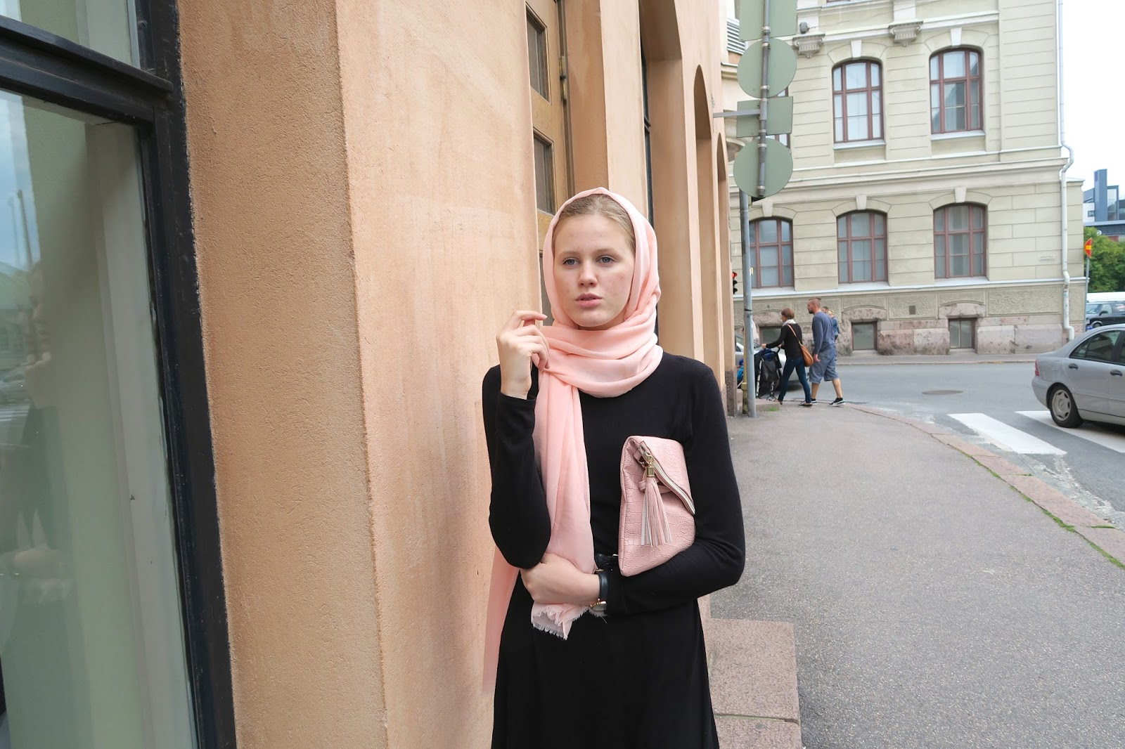 light pink hijab