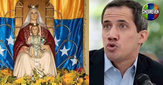 Juan Guaidó entregó una copia del Acuerdo de Salvación Nacional a la Virgen de Coromoto