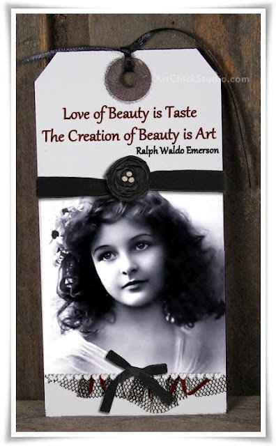 Creation of Beauty Tag Art