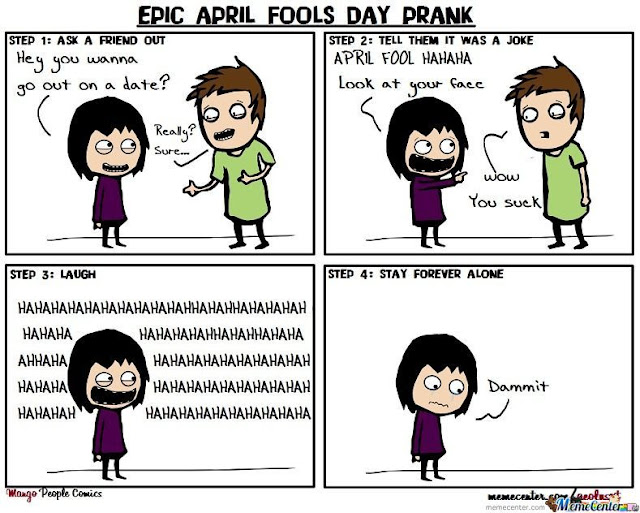 April fool's day meme | Collection of funny and beautiful memes of All fool's day