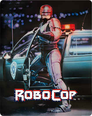 Arrow Video's ROBOCOP Steelbook Cover Art