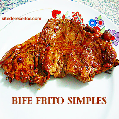 Bife frito simples