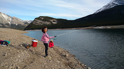 Fishing at Driftwood Day Use, Spray Valley Provincial Park