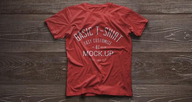 7 Mockups [PSD] gratis de camisetas para ver tus diseños [Uso Comercial 100%]