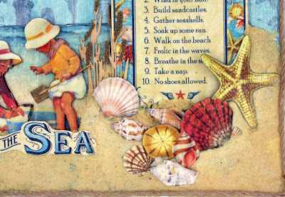 Graphic 45 By the Sea DCE altered canvas