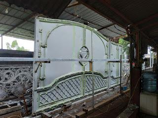 project pembuatan pagar besi tempa klasik cibubur