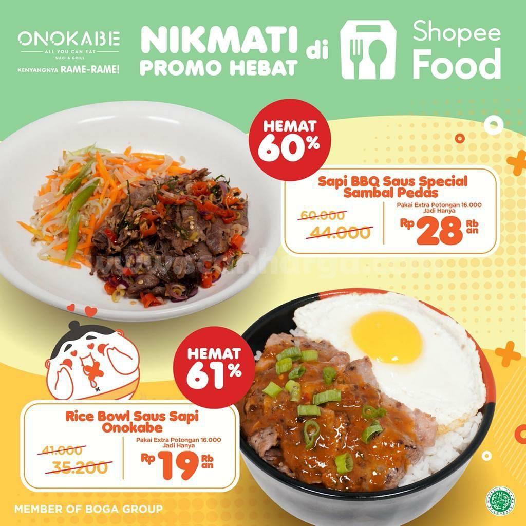 Promo ONOKABE Diskon 61% via SHOPEEFOOD