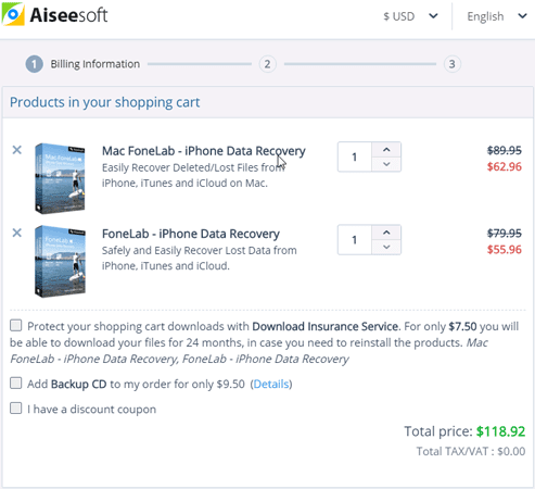 Aiseesoft Fonelab coupon and discount