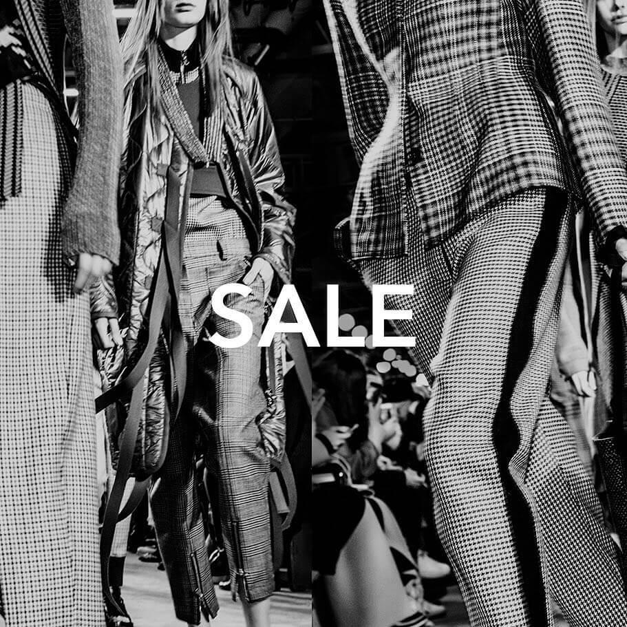 Big sale on designer clothing