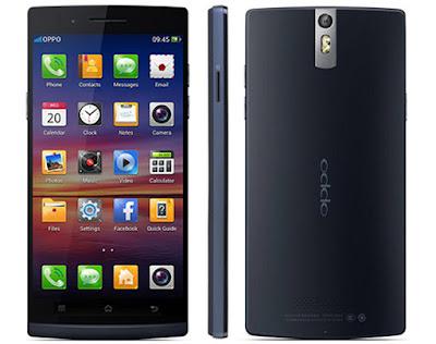 Spesifikasi Oppo Find 5        Tak hanya itu, untuk system penyimpanan sendiri ponsel ini dibekali memory internal yang berkapasitas 16GB dengan dukungan RAM sebesar 2GB. Mengenai performa ponsel ini didukung Processor Snapdragon S4 Pro APQ8064 dengan kecepatan Processor 1.5 GHz membuat anda lebih nyaman menggunakan Oppo Find 5 X909.              Desain yang slim dan memiliki layar yang luas, membuat ponsel ini menjadi tampak lebih elegan dan menarik. Ponsel yang hanya memiliki ukuran 14.18 x 6.88 x 0.88 cm dengan berat 0,165kg. untuk mennambah kesempurnaan ponsel ini menawarkan tampilan Full HD|Gorilla Glass dengan ukuran layar sebesar 5,0 inchi yang didukung resolusi layar sebesar 1920×1080 .         Oppo Find 5 sejatinya memang tengah menjadi salah satu ponsel android andalan dari vendor oppo, terlebih dengan spesifikasi yang ditawarkan memang sangat menarik dengan prosesor berkecepatan 1.5GHz serta dukungan kapasitas RAM 2GB memang menjadi modal utama dalam menarik hati para pembeli.  Kelebihan   Layar 5 inci full HD.  1.5GHz Quadcore Processor.  RAM 2 GB.  Kamera 13 MP.  Dolby Mobile Sound Enhancement.  Desain tipis.  Kekurangan   Tanpa Slot MicroSD.  Tanpa LTE.  Minim Fitur Unggulan.  Spesifikasi   CPU : Quad-core 1.5 GHz Krait.