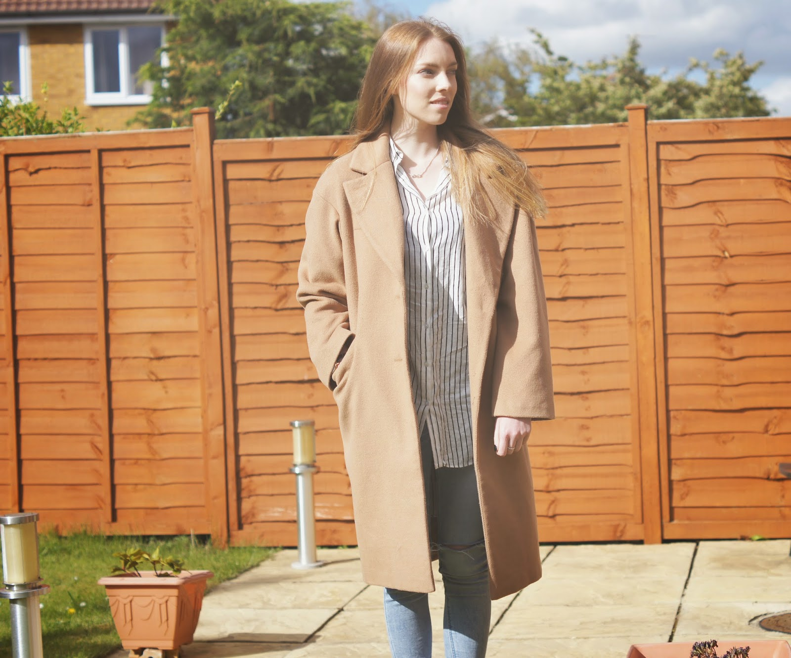 asos camel oversized coat