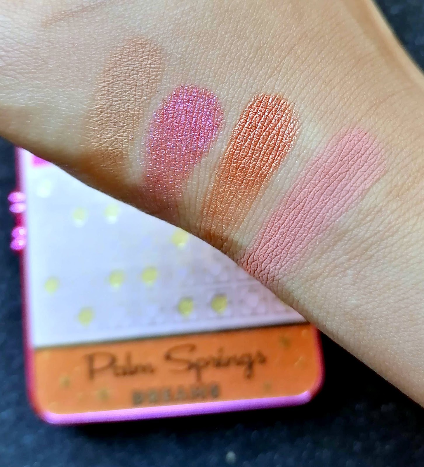 TOO FACED > Palm Springs Dreams Cocktail Party 🌴 swatch and make up!