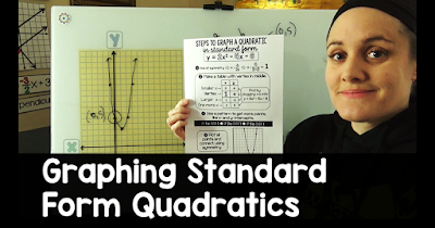 I had stalled a bit on my mission to make videos to go along with all of my math cheat sheets. It feels good to be back at it! The graphing quadratics in standard form quadratics cheat sheet in this post was a teacher request. It's a brand new step-by-step on graphing standard form quadratics.