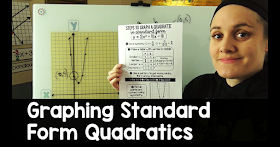 a video on how to graph standard form quadratics, one of the videos on my math YouTube channel