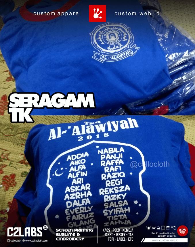 Seragam TK Alawiyah - Sablon Kaos Anak