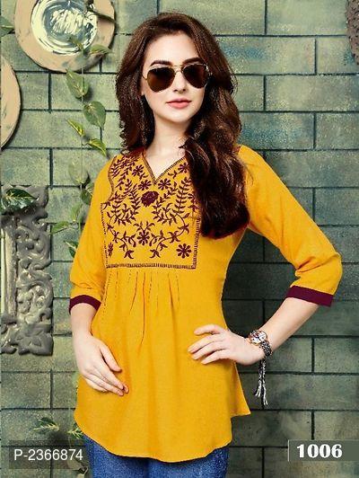 Rayon Embroidered Tunics tops