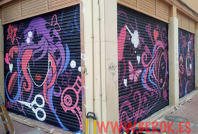 Decoración graffiti mural Barcelona