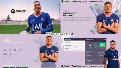 PES 2021 Menu Mod FIFA 22 by PESNewupdate