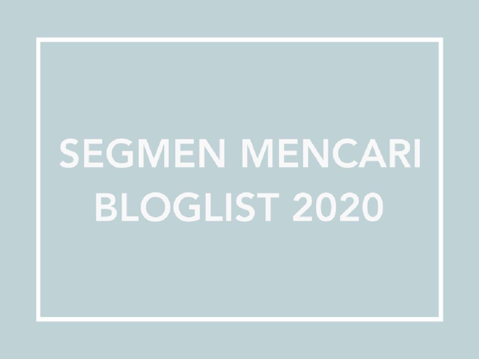 Beeha Mencari Bloglist Baru