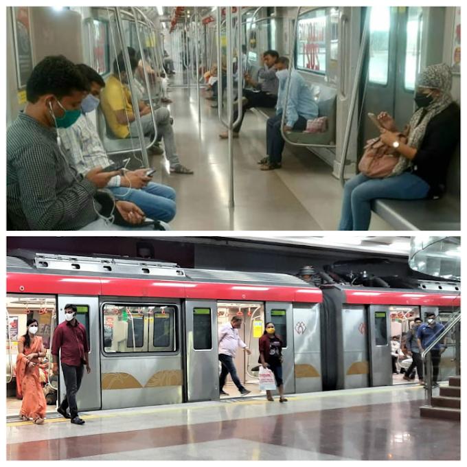 11 हजार पार हुई लखनऊ मेट्रो की राइडरशिप