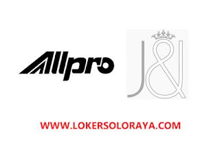 Loker Solo Baru Terbaru di ALLPRO / JNJ Bridal
