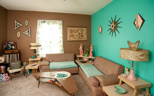 warna ruang tamu hijau tosca rancangan desain rumah
