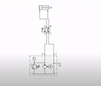 رسم دائرة كهرنيوماتيكية التشغيل - سلندر مفرد