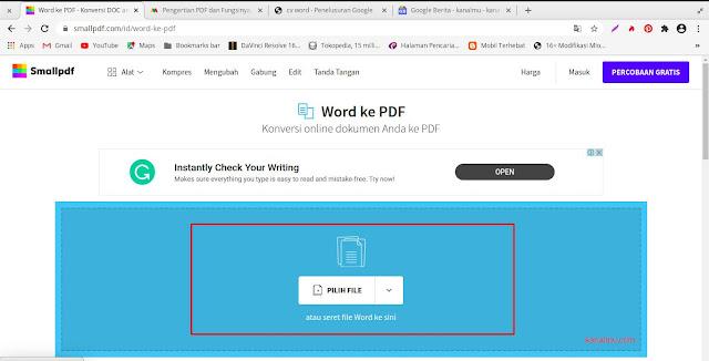 cara gampang konvert word pdf