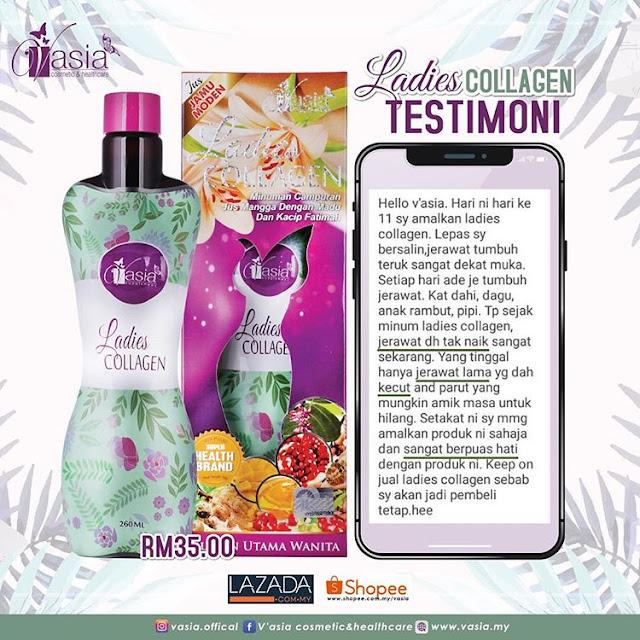 Testimoni Ladies Collagen V'asia