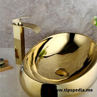 gold bathroom faucet set