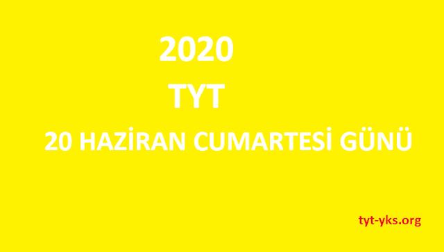 tyt 2020 ne zaman