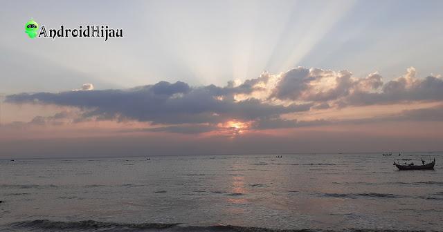 sunset di pantai banyutowo pati jawa tengah