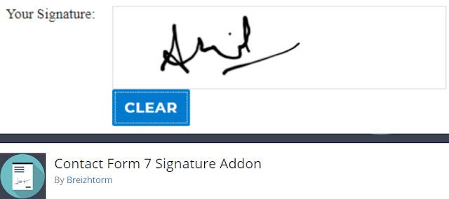 Signature Field CF7