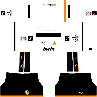 Valencia CF Dream League Soccer fts 2019 2020 DLS FTS Kits and Logo,Valencia CF dream league soccer kits, kit dream league soccer 2020 2019