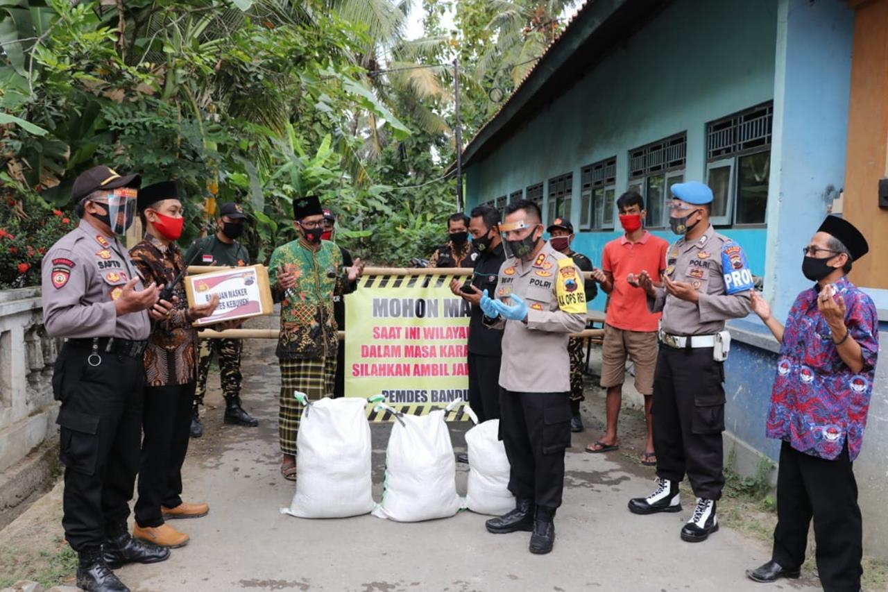 Kapolres Kebumen Tinjau Lokasi Karantina Mandiri di Ponpes Nurul Hidayah