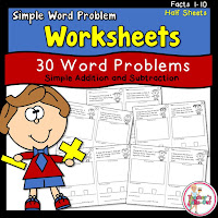 Word Problem Worksheets for simple facts