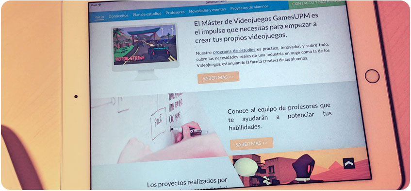 Website Máster Videojuegos GamesUPM