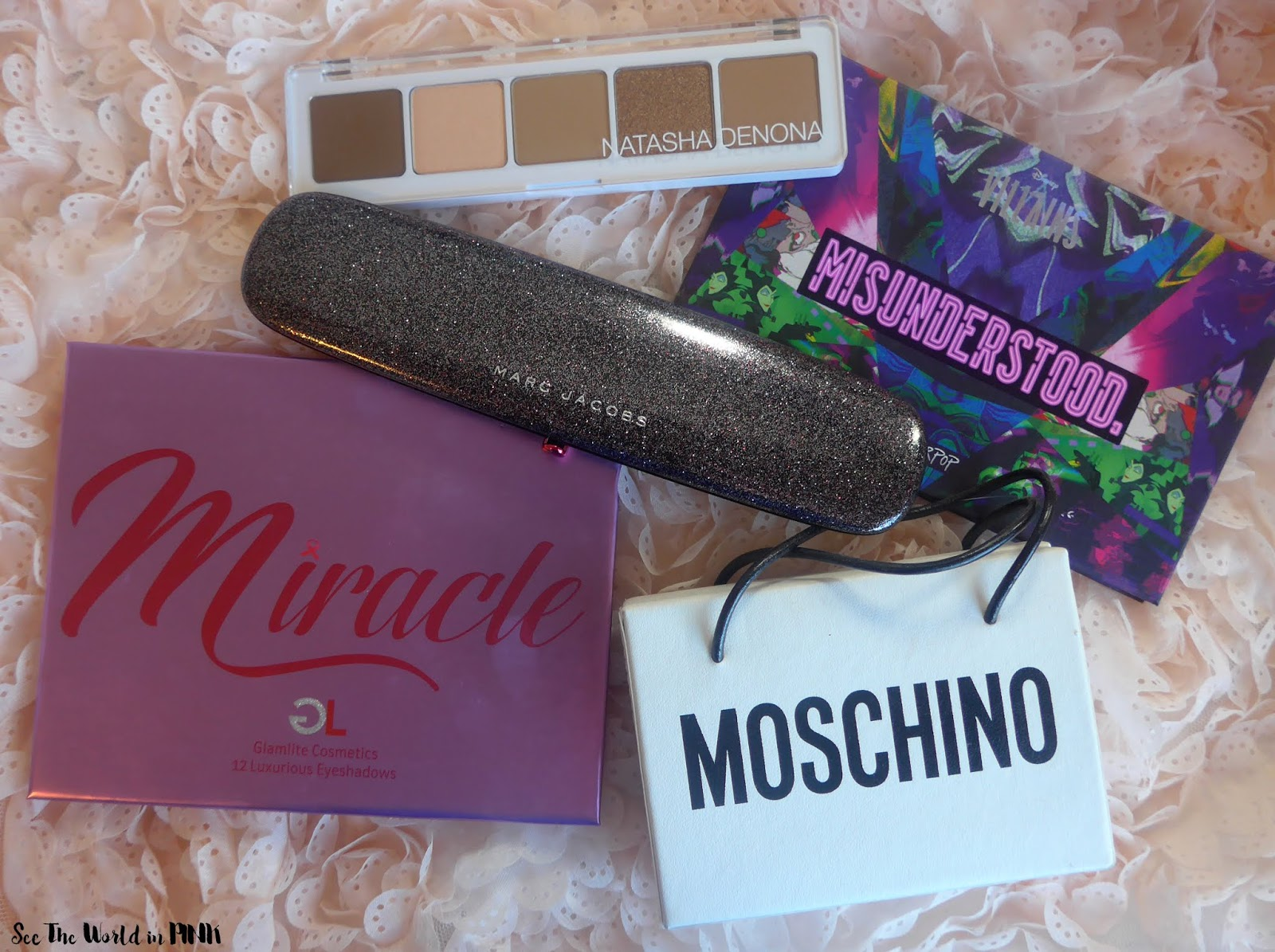 Five on Saturday - March 14, 2020 ~ Natasha Denona, ColourPop, Marc Jacobs Beauty, Glamlite Cosmetics and Moschino + Sephora Collection palettes!