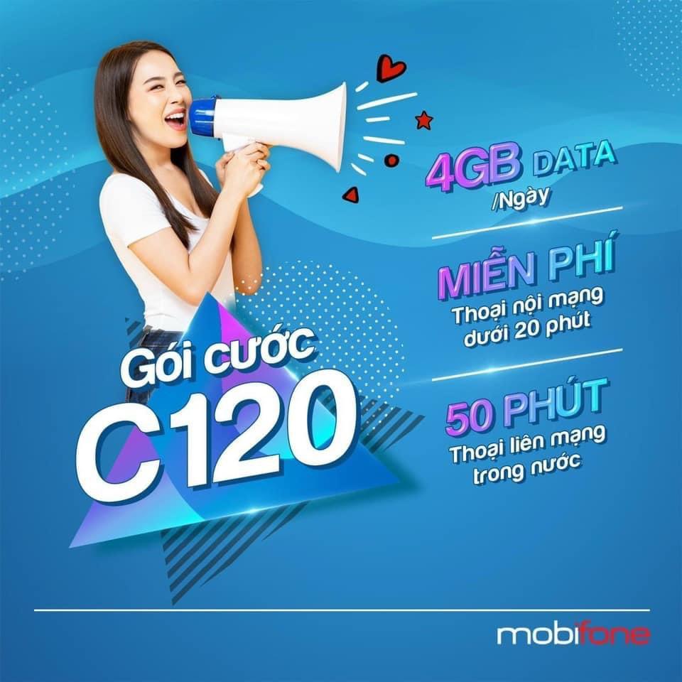 Gói cước 12C120 cực kỳ ưu đãi của mobifone
