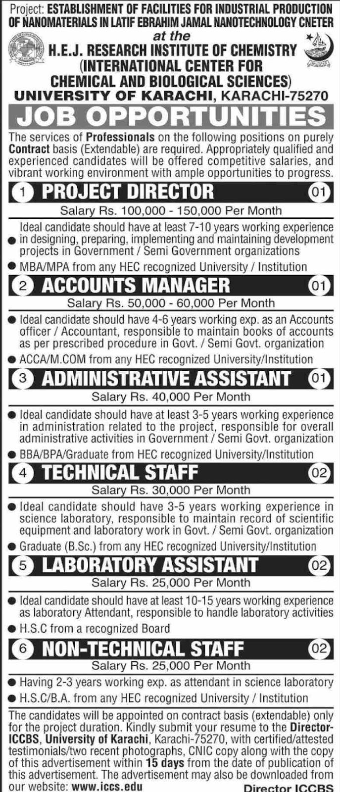Jobs in University of Karachi Latest Vacancies 2020