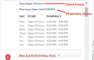 Rite Aid Hours of Operations