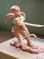 orme magiche final fantasy IX Zidane Tribal modellini statuette sculture action figure personalizzate fatta a mano super sculpey