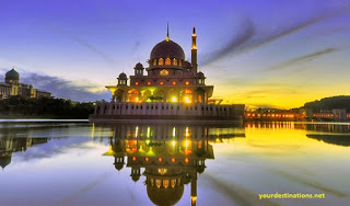 Lake and the Putrajaya Mosque