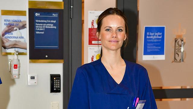 La princesa Sofía de Suecia trabaja como voluntaria en un hospital en medio de la pandemia de coronavirus