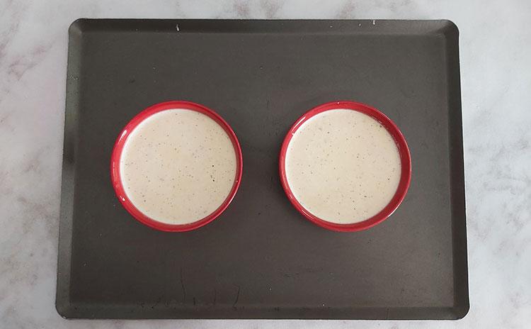 Crèmes brûlées avant cuisson