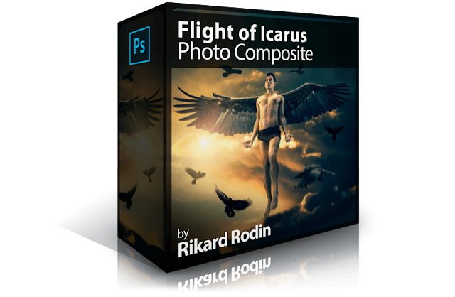 Flight of Icarus Photo Composite