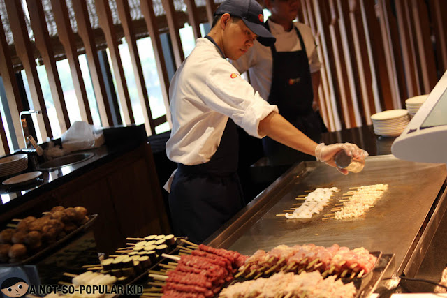 Cooking Yakitori of Nobu Restaurant